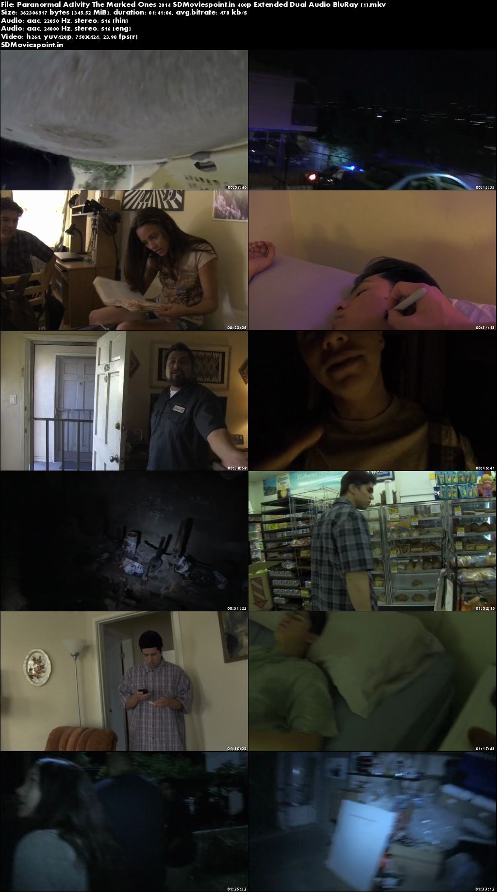 Screen Shots Paranormal Activity The Marked Ones 2014 Full HD Movie Download Dual Audio