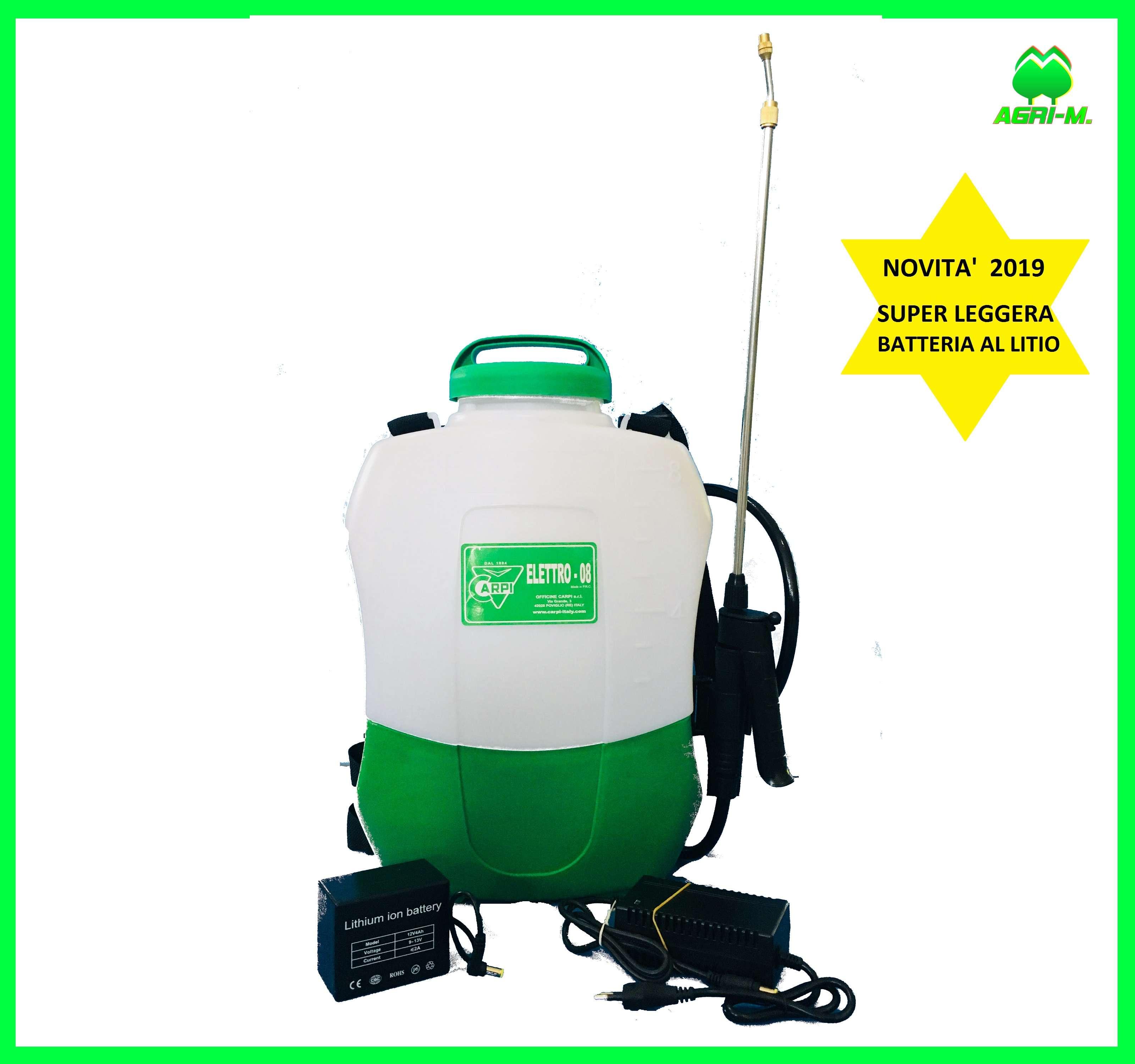 Servizi Sicurezza Italia Poviglio dettagli su pompa a batteria al litio con zaino irroratrice a spalla  elettrica carpi 8 lt