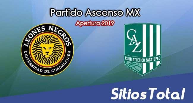 Ver Leones Negros vs Atlético Zacatepec en Vivo – Vuelta Cuartos de Final – Ascenso MX en su Torneo de Apertura 2019