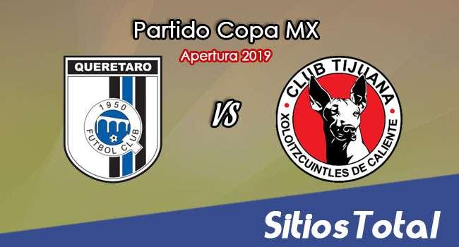 Querétaro vs Xolos Tijuana en Vivo – Copa MX – Martes 13 de Agosto del 2019