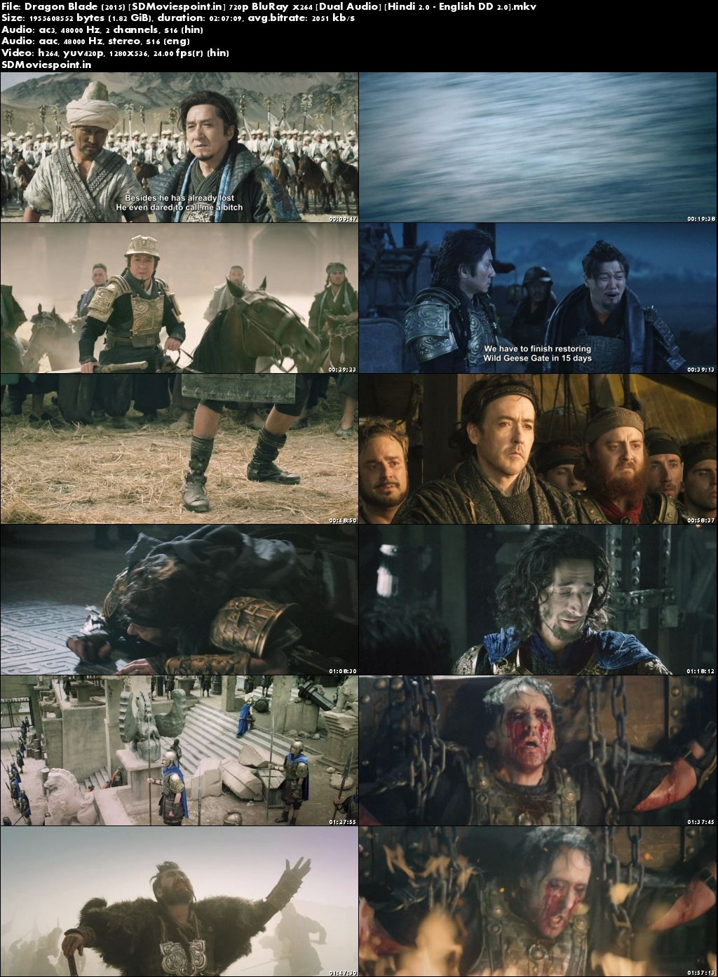 Screen Shots Dragon Blade (2015) Full HD Movie Download Free in Hindi Dubbed 720p