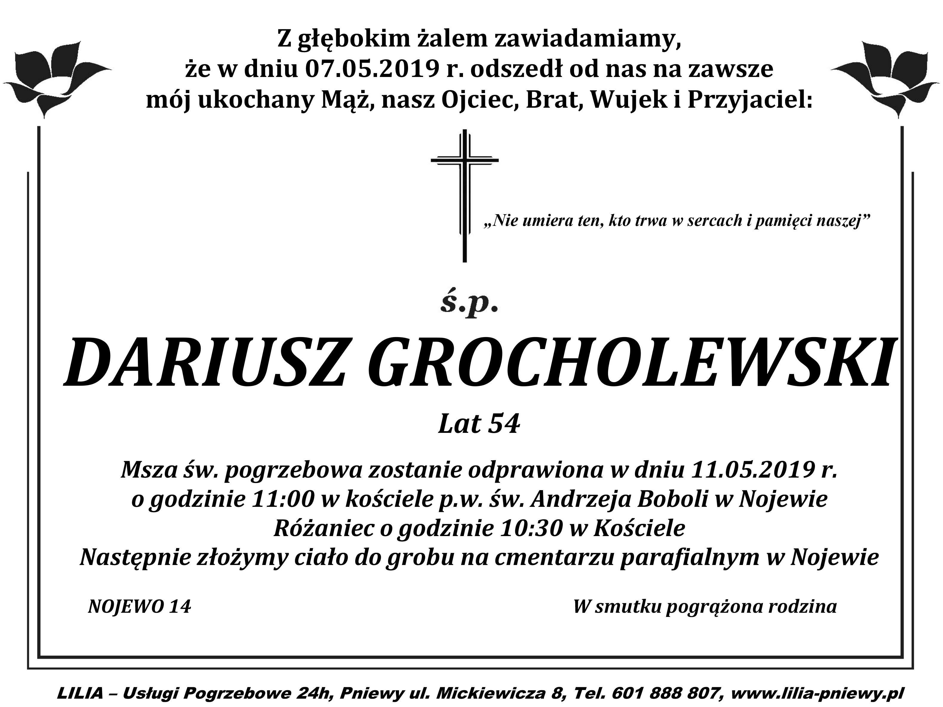 Żyli wśród nas – Dariusz Grocholewski