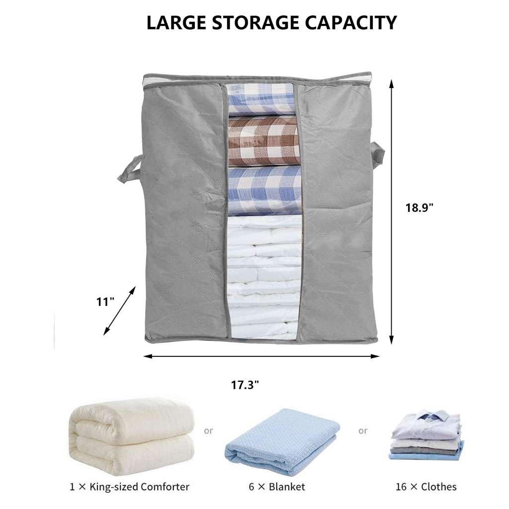 Foldable Home Closet Storage Bag Clothes Quilt Blanket Zipper Organizer Box NEW