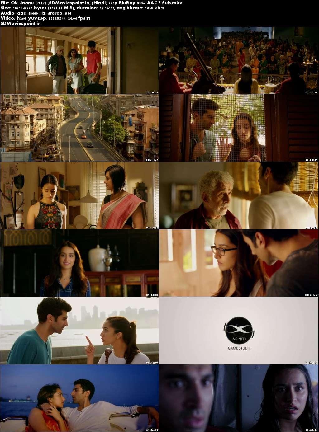 Screen Shots OK Jaanu (2017) Full Hindi HD Movie Download 720p