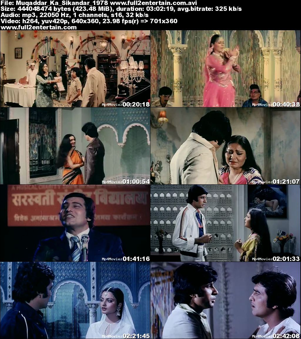 Muqaddar Ka Sikandar 1978 Full Movie Download Free in Bluray 720p