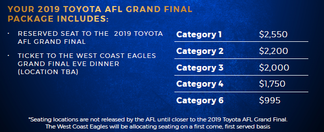 Grand Final packages