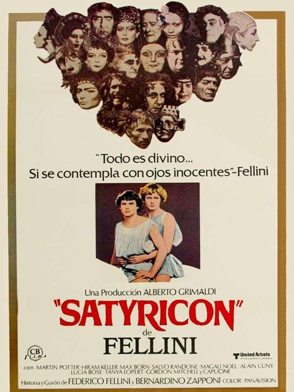 Fellini Satyricon Σατυρικόν Poster