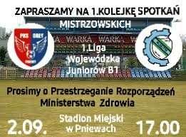 Juniorzy PKS Orły zapraszają namecz