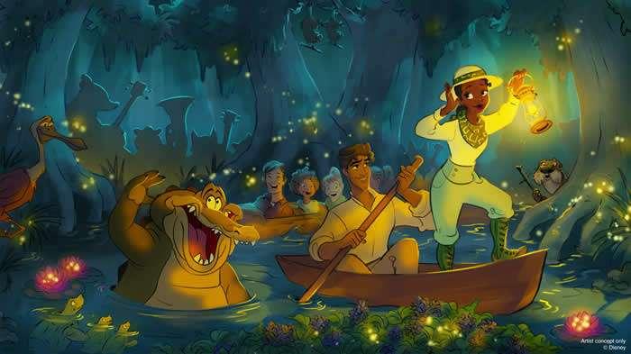 """Disney presenta novedades de la próxima atracción inspirada en """"La Princesa y el Sapo"""""""