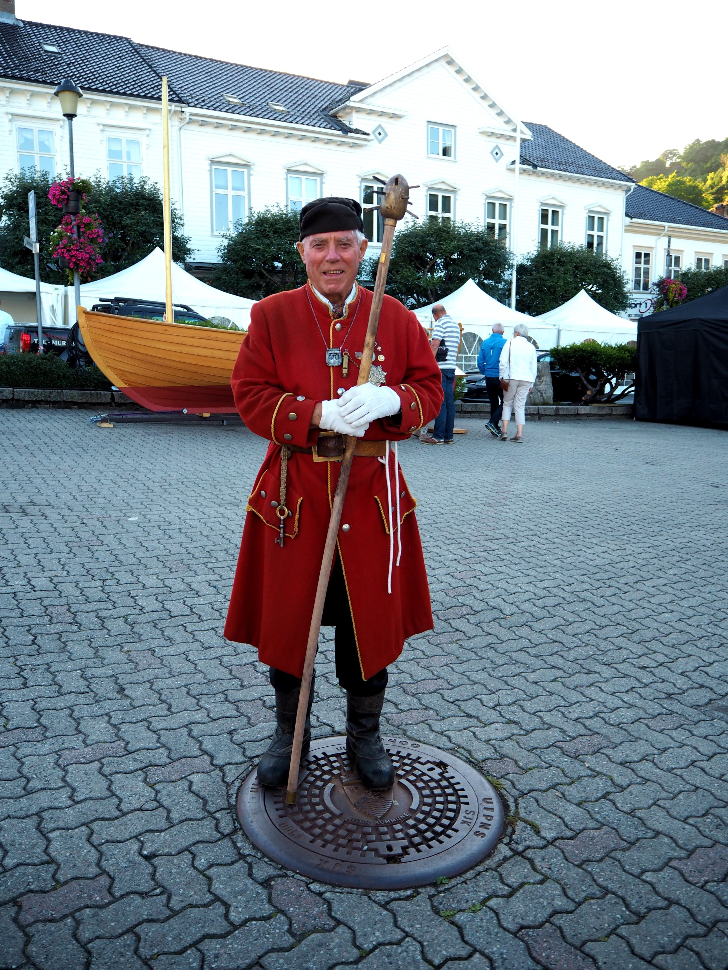 Our tour guide, Tomas, dressed as a traditional guard