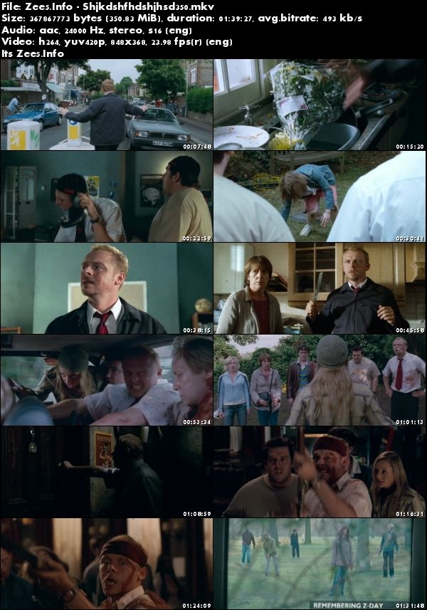 Shaun of the Dead 2004 English 480p BluRay x264 350MB