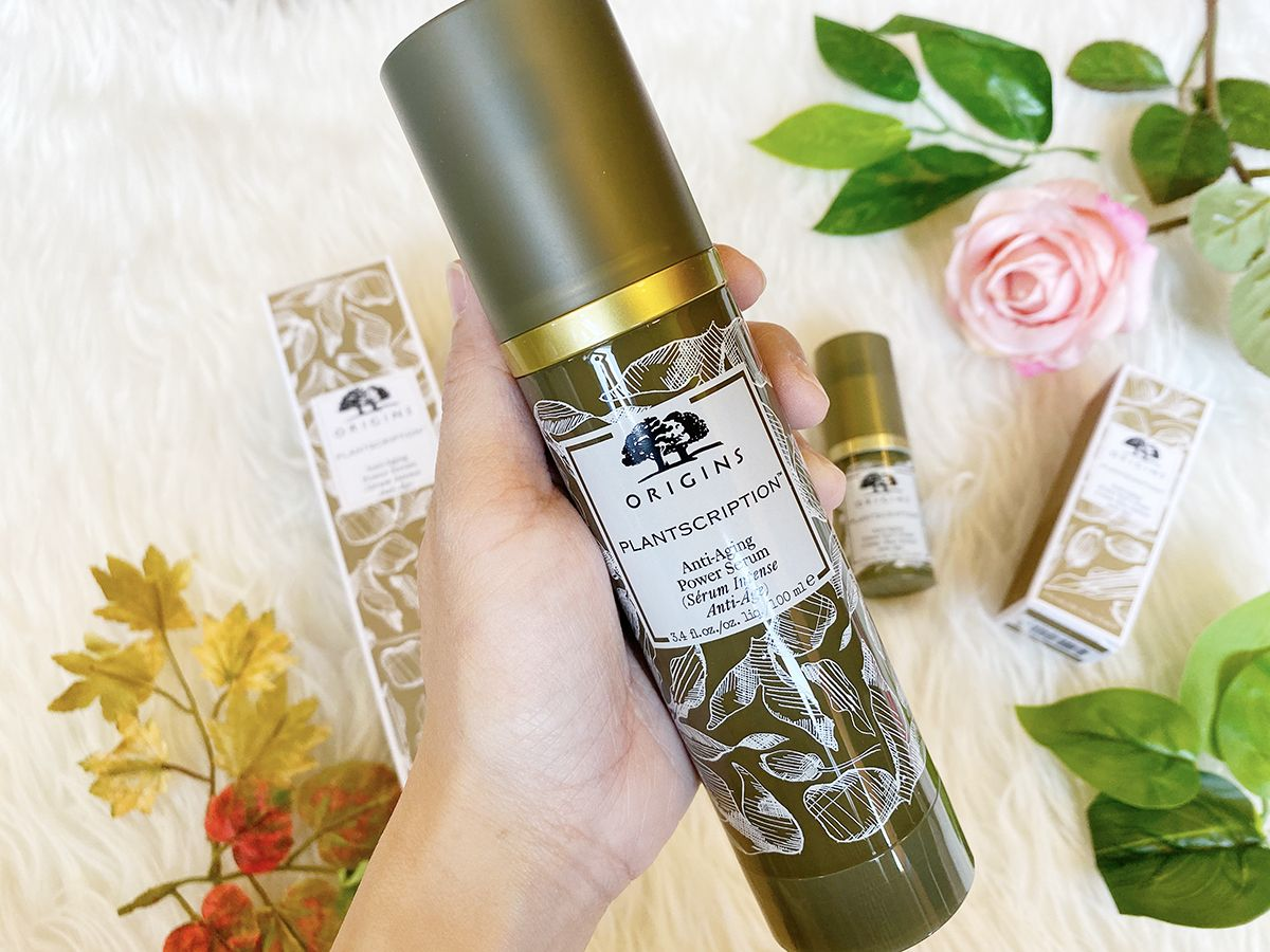 Origins Plantscription Anti-Aging Power Serum Eye Cream Review Singapore