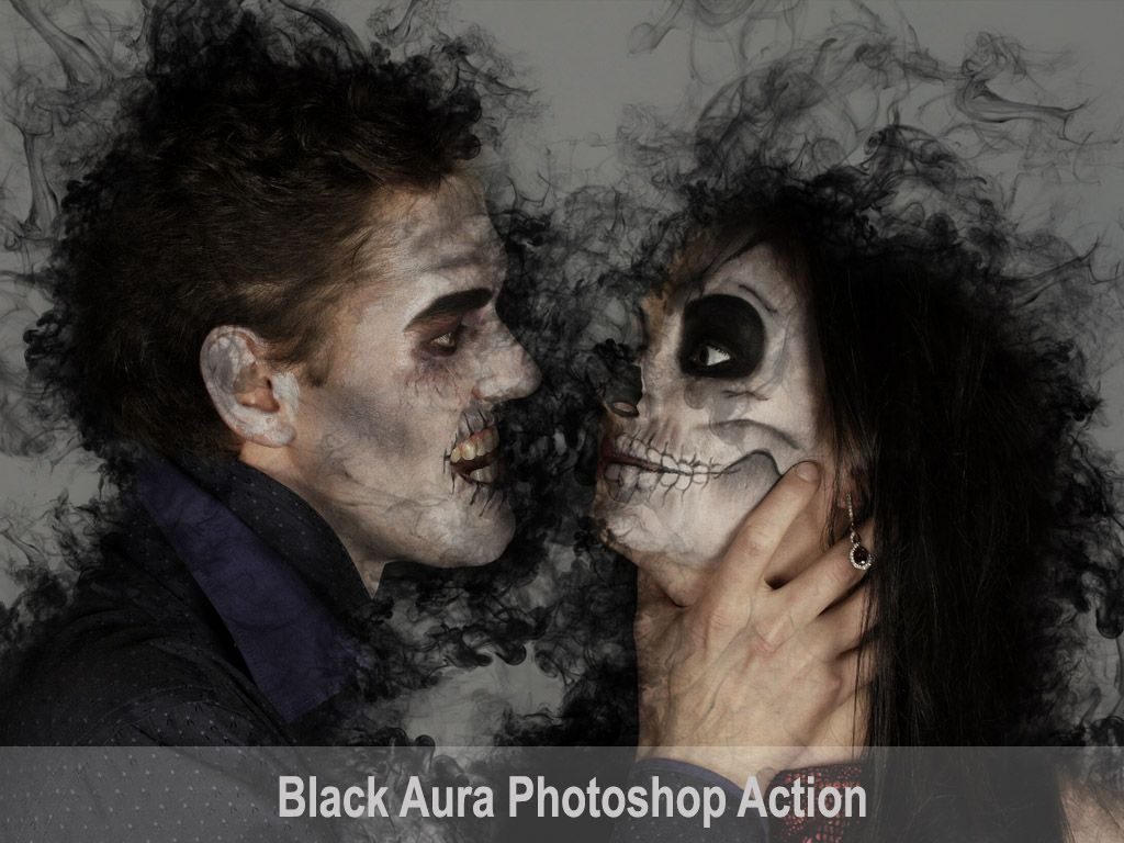 Black Aura Photoshop Action