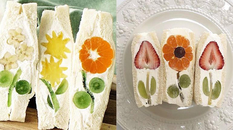How to Make These Beautiful Japanese Fruit Flower Sandwiches