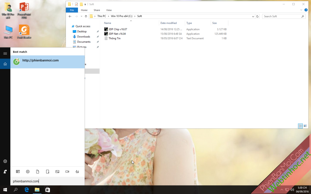 Ghost Windows 10 Pro Version 1607 Full Soft Full Driver [x86 & x64] by ThanhTungIT