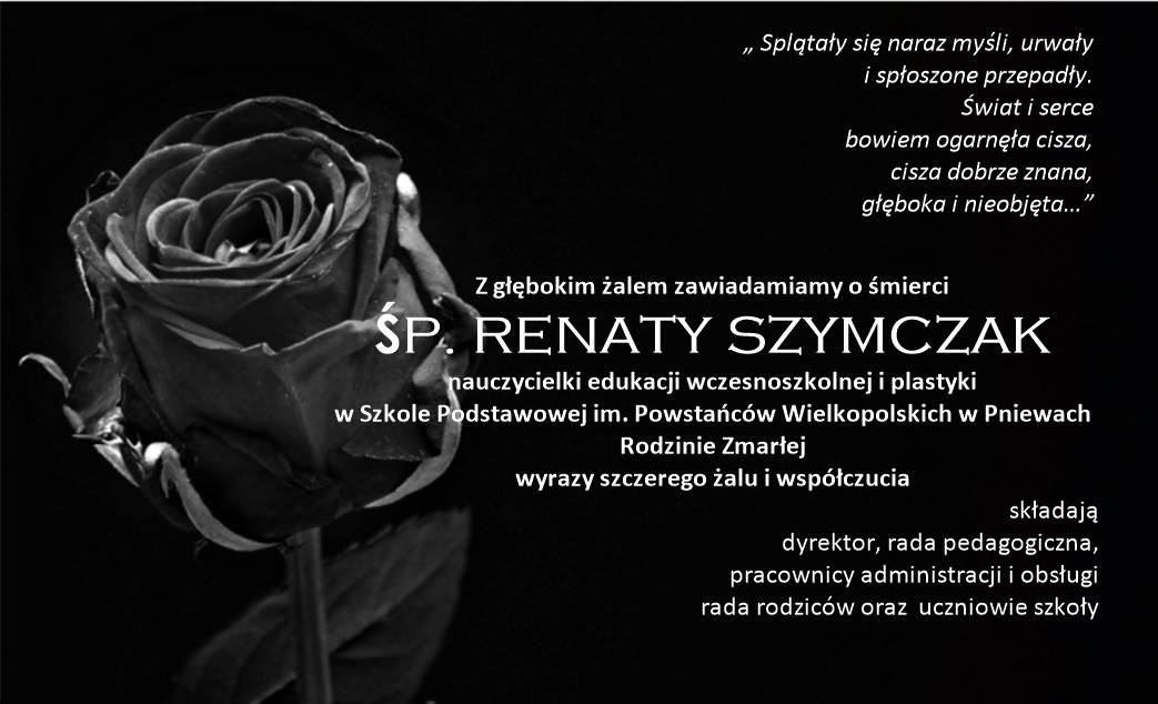 Żyli wśród nas – Renata Szymczak