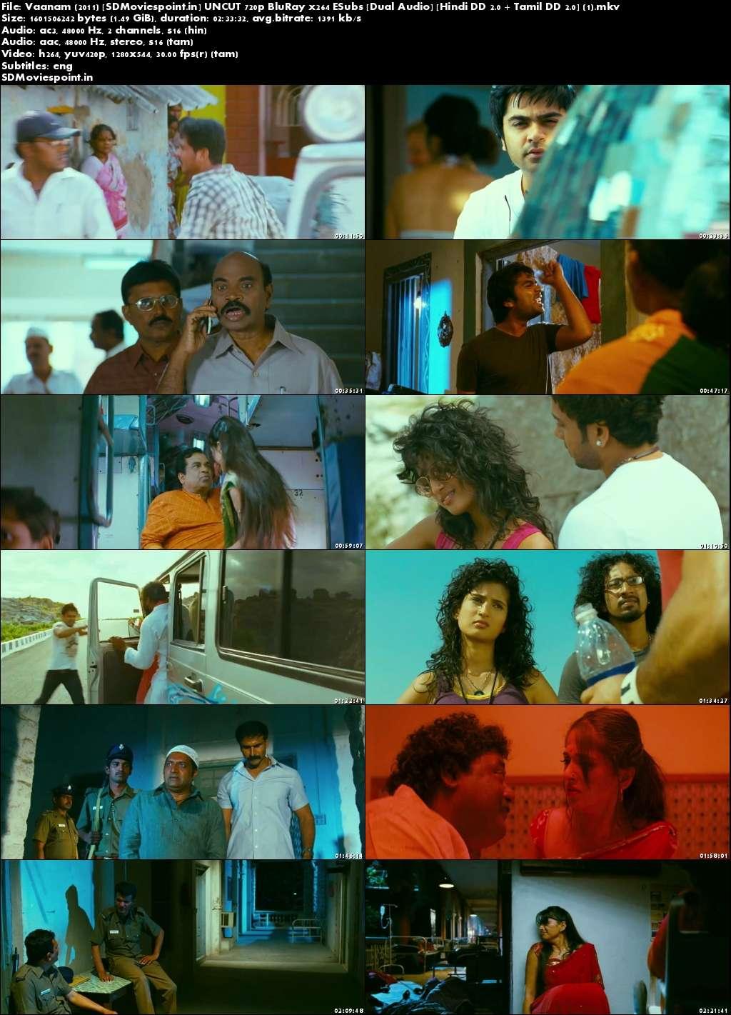 Screen Shots Vaanam 2011 Full Movie Download Dual Audio In Hindi Free 720p