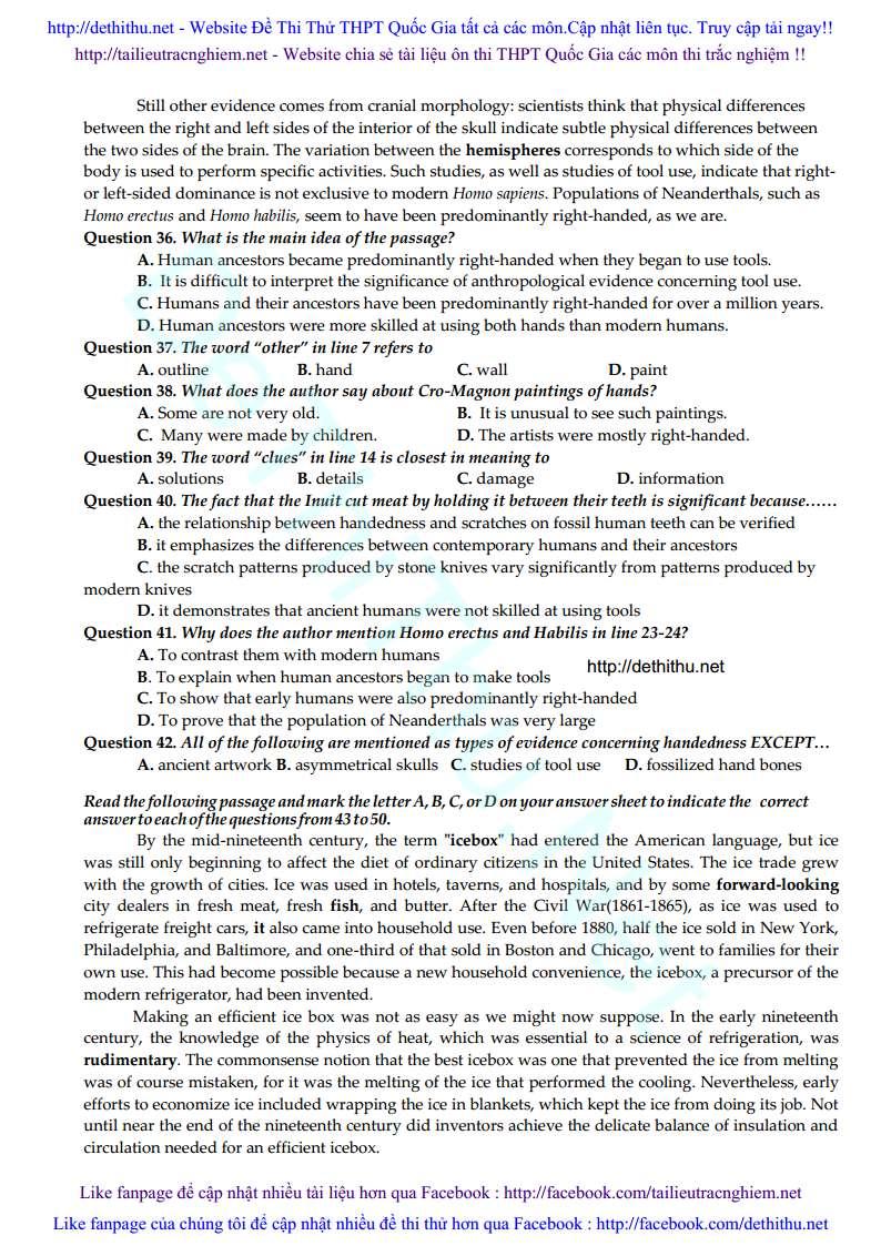 De thi thu THPT QG 2017 mon tieng Anh THPT Chu Van An, Yen Bai trang 4