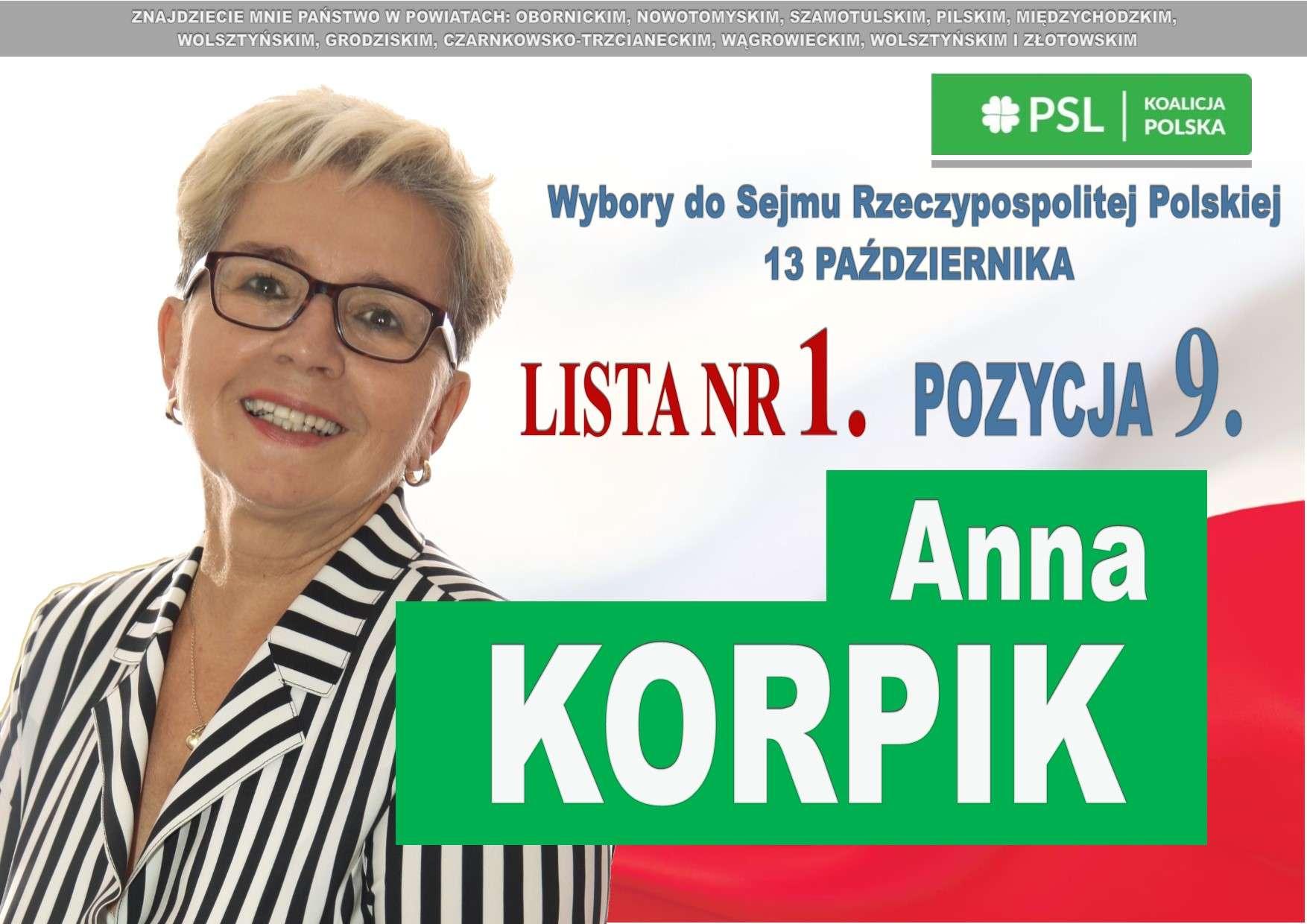 Anna Korpik – dobry kandydat zlisty nr1