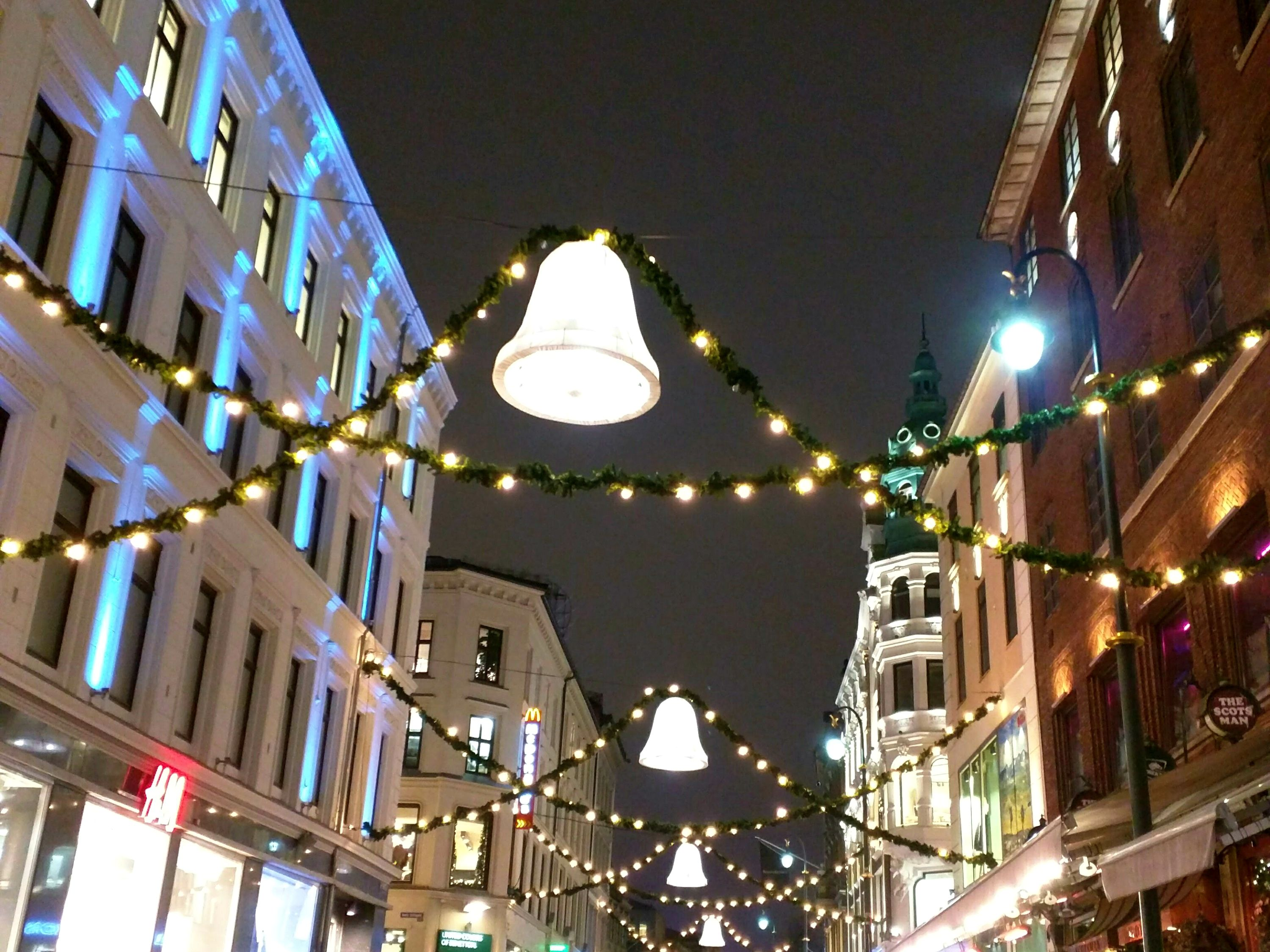 Christmas lights in Oslo