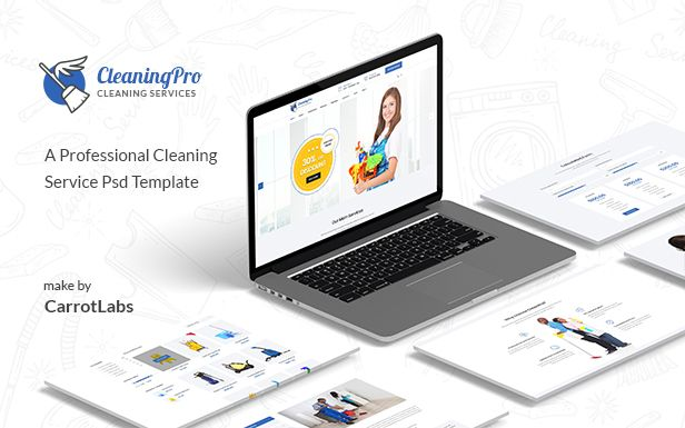 CleanPro - Cleaning Service PSD Template - 2