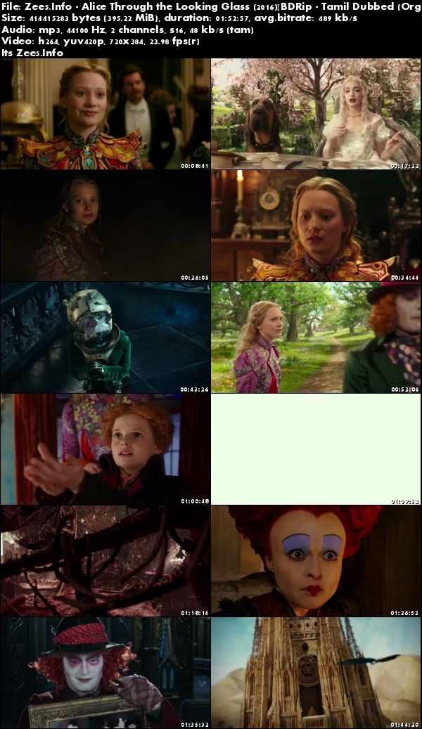 Alice Through the Looking Glass 2016 480p Tamil Dubbed Full Movie Download