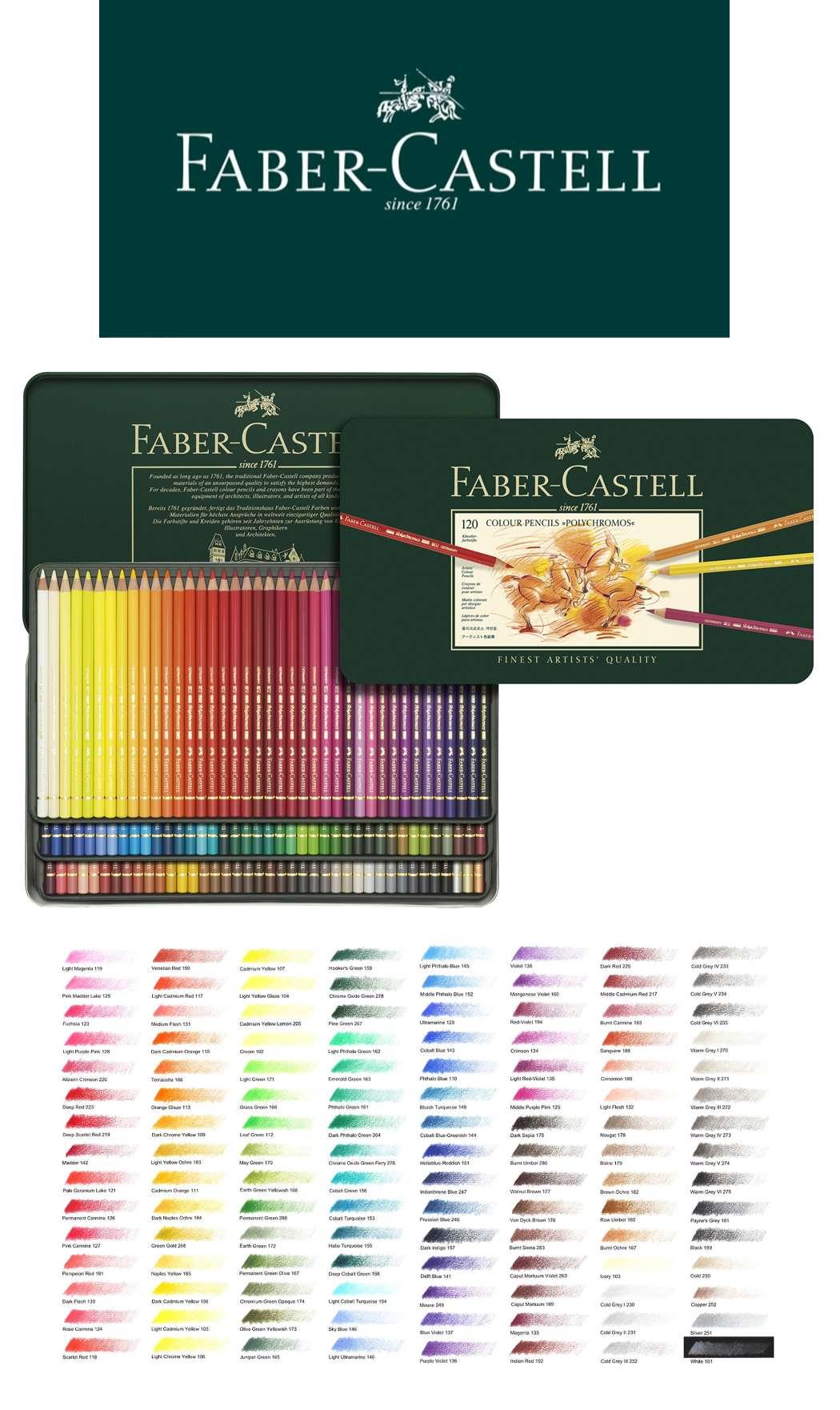 new 120 fabercastell polychromos artist colour coloured