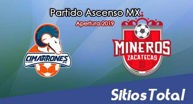 Ver Cimarrones de Sonora vs Mineros de Zacatecas en Vivo – Ascenso MX en su Torneo de Apertura 2019