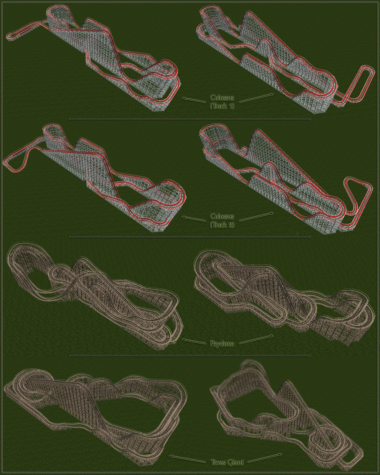 Image 01, My Downloads - Track Packs - RCT1 Six Flags Track Pack