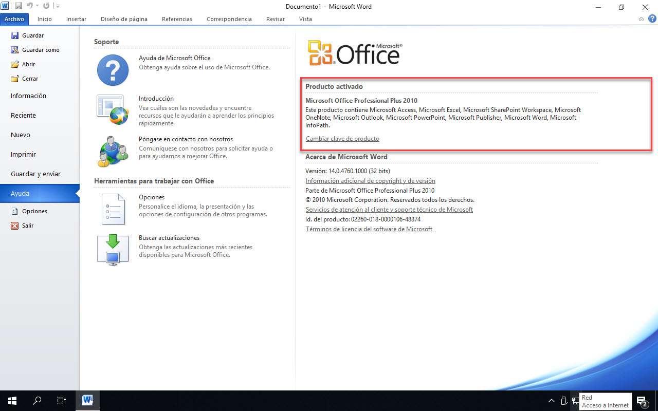 office 2010 pro plus activado