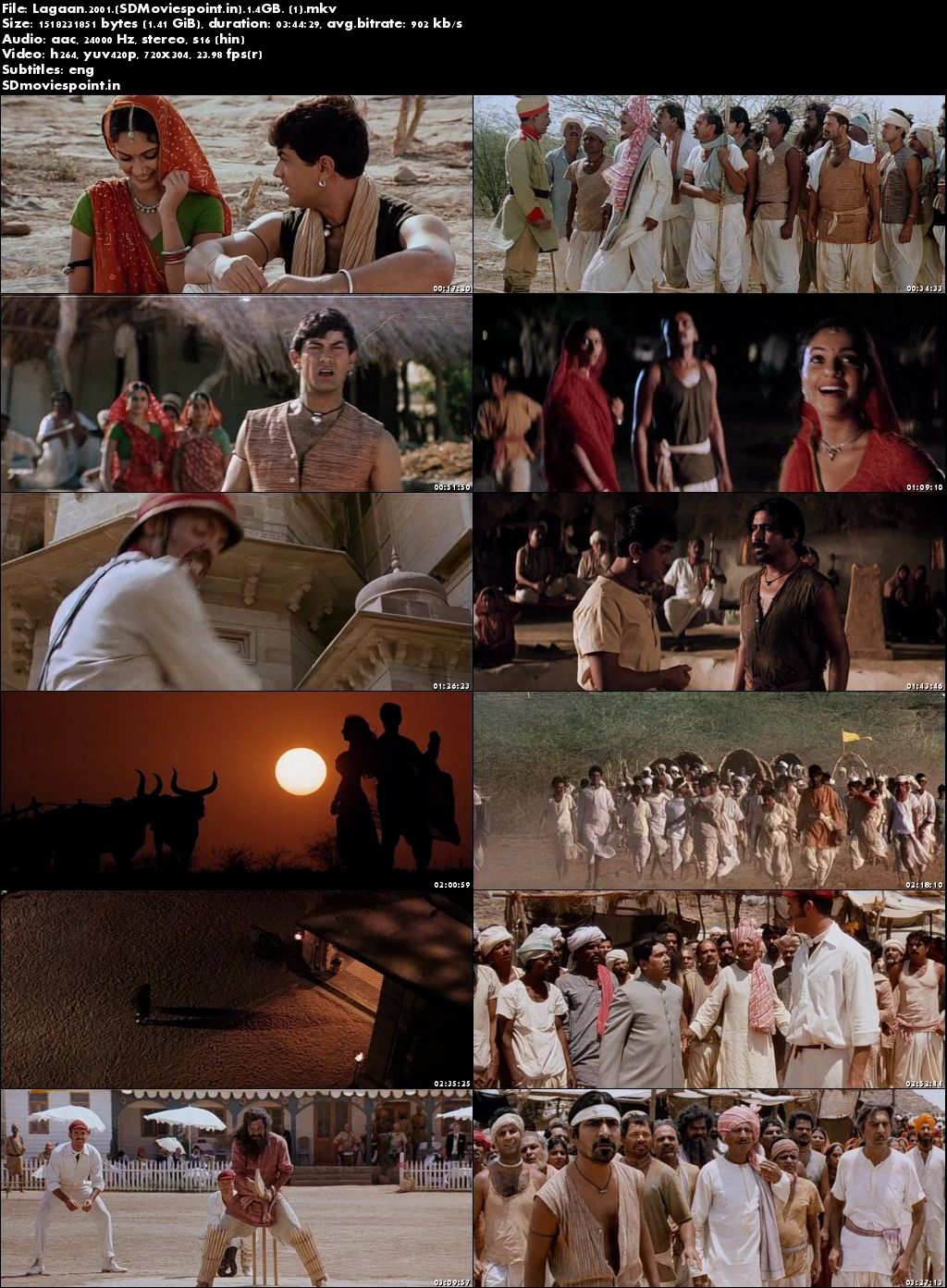 Screen Shots Lagaan (2001) Full HD Movie Download Hindi 720p Blu-ray