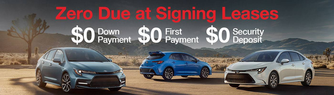 Toyota $0 Down Lease Offers in Cincinnati