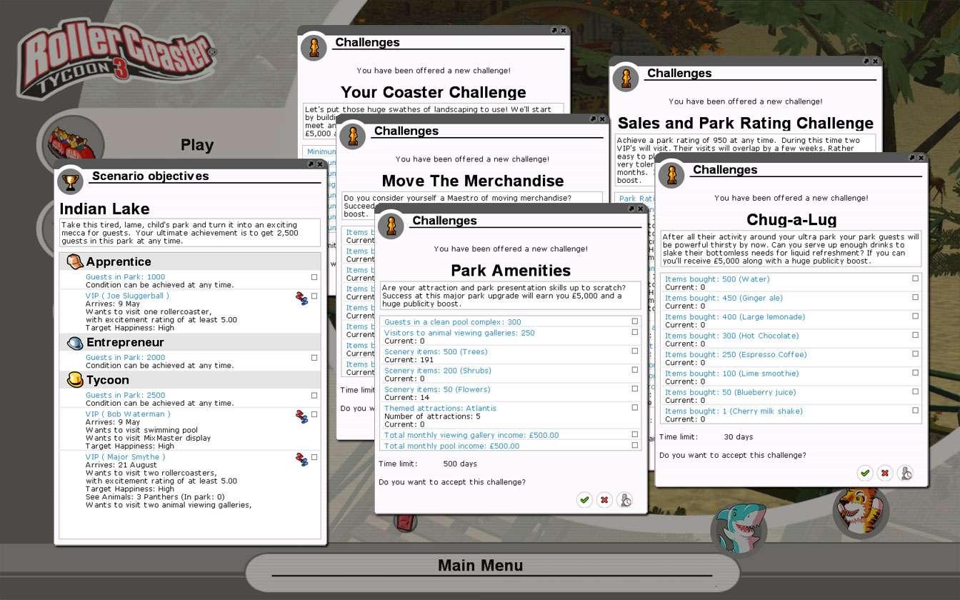 Illustration 03, Scenario Detail As Seen In Game Arranged In Screenshot, FlightToAtlantis.net - My Downloads, Parks and Coasters - Scenario: Indian Lake