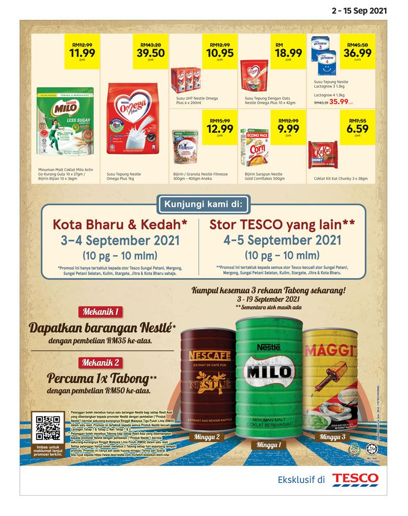 Tesco Catalogue(2 September 2021 - 15 September 2021)