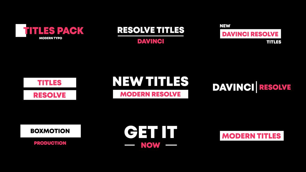 BOX | Transitions for Davinci Resolve - 105