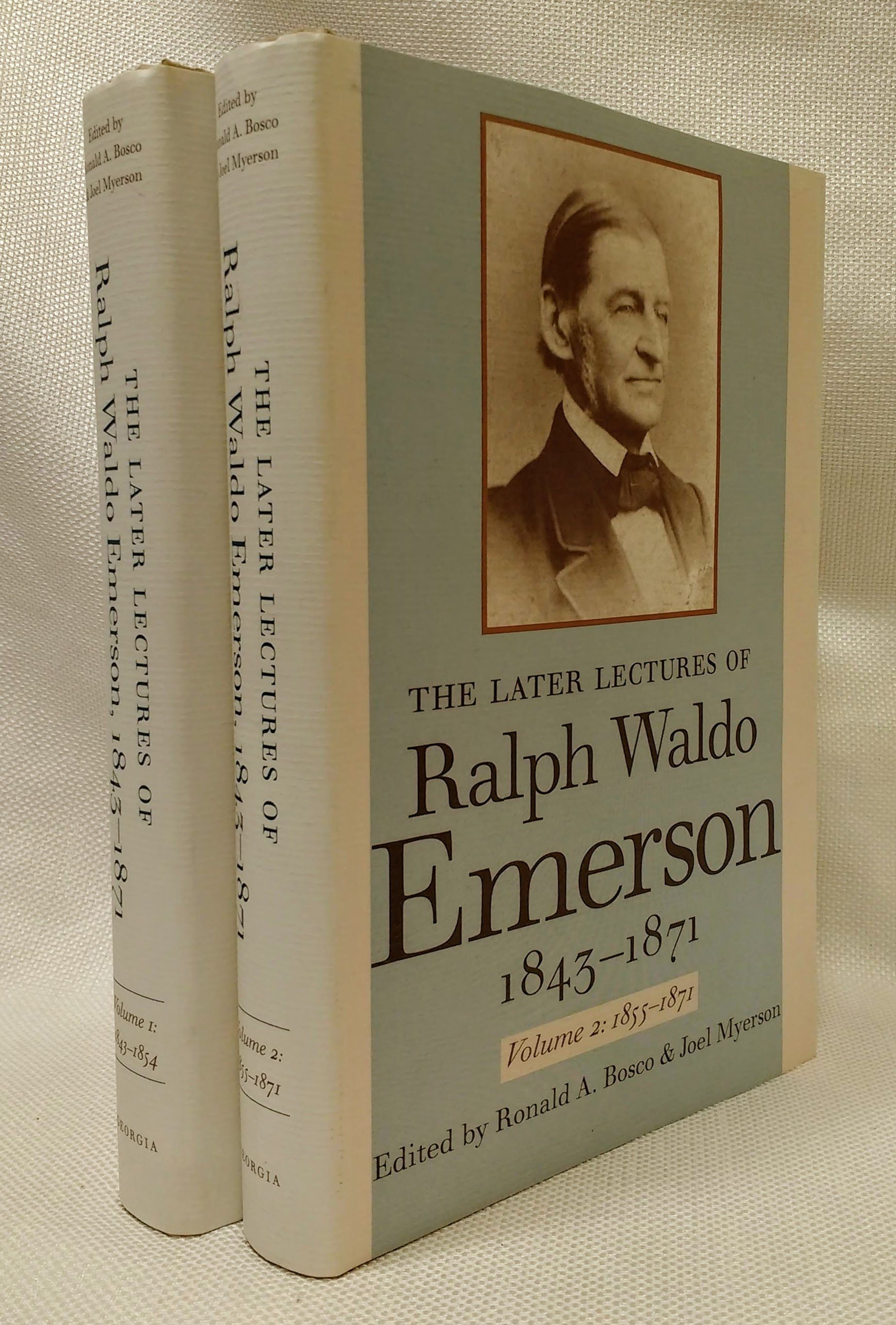 The Later Lectures of Ralph Waldo Emerson, 1843 - 1871 (Two Volumes)), Emerson, Ralph; Myerson, Joel [Editor]; Bosco, Ronald [Editor];