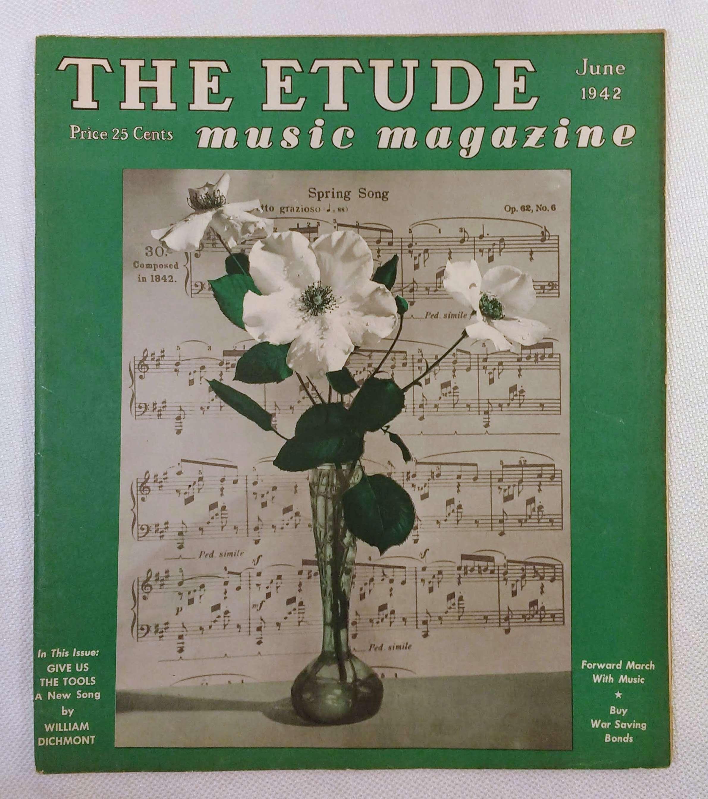 Image for The Etude Music Magazine: Volume LX, No. 6; June, 1942