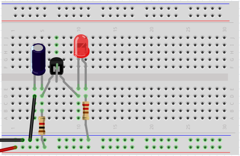 transistors - How can I build a simple firefly (LED) circuit ...
