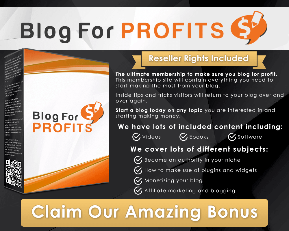 Bonus 2: Blog For Profits