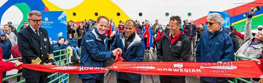 Norwegian Encore hace su debut en Alaska con la primera llamada a Icy Strait Point