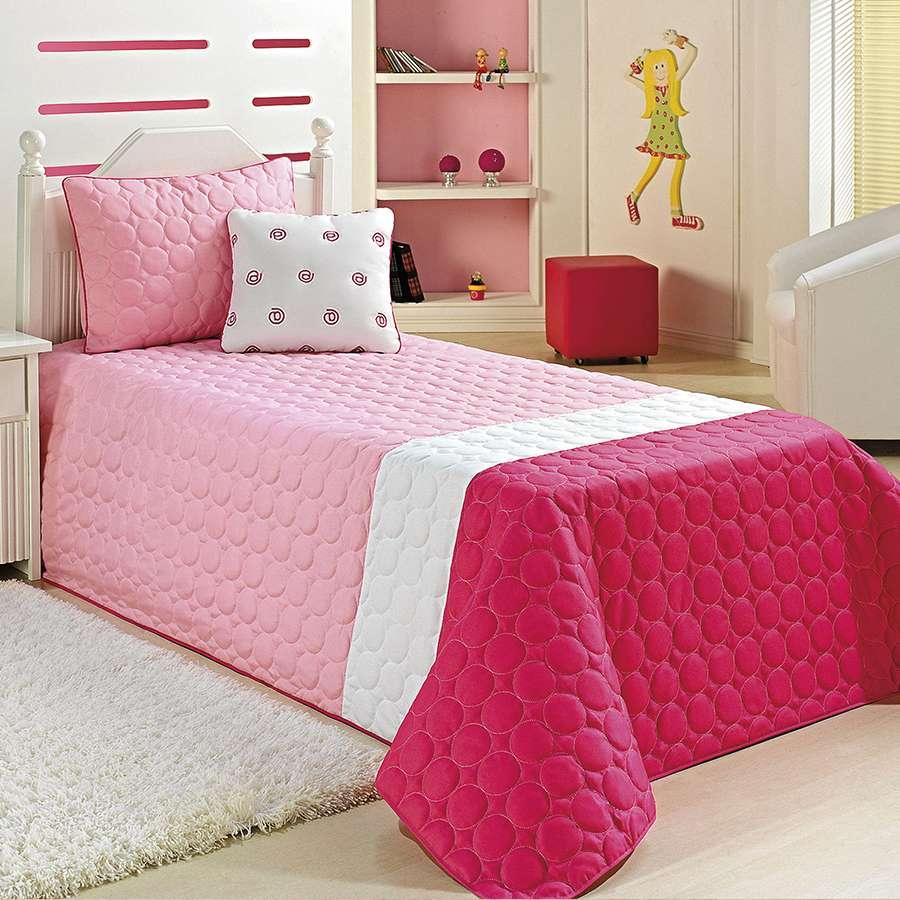 Kit Cobre Leito My Net Solteiro 4 Peças Confortável Pink
