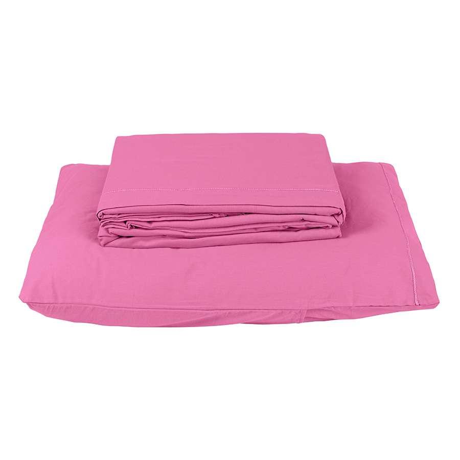 Jogo De Cama Montreal Solteiro 3 Peças 150 Fios Macio Pink