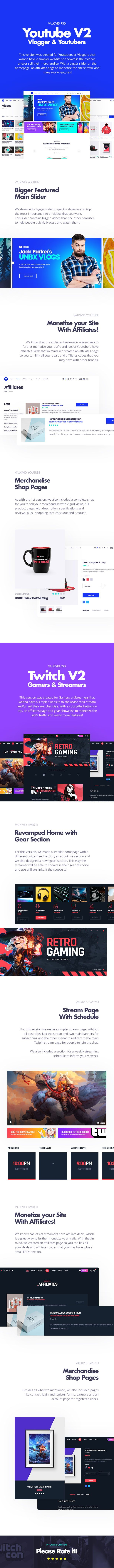 Valkivid - Streamer and Youtuber PSD Template - 12