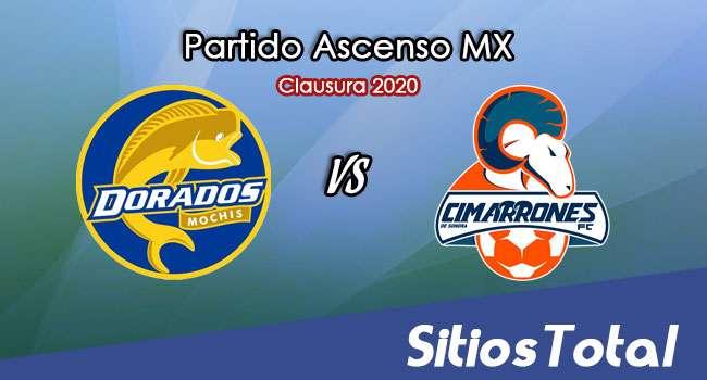 Ver Dorados de Sinaloa vs Cimarrones de Sonora en Vivo – Ascenso MX en su Torneo de Clausura 2020
