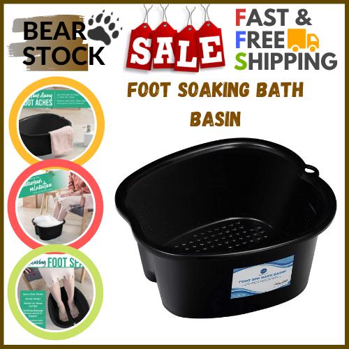 Ber Foot Soaking Bath Basin Pedicure Massaged Tub Home Spa T
