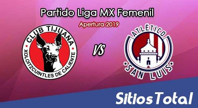 Ver Xolos Tijuana vs Atlético San Luis en Vivo – Liga MX Femenil – Apertura 2019 – Lunes 9 de Septiembre del 2019