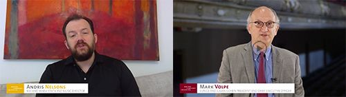 [Andris Nelsons and Mark Volpe]