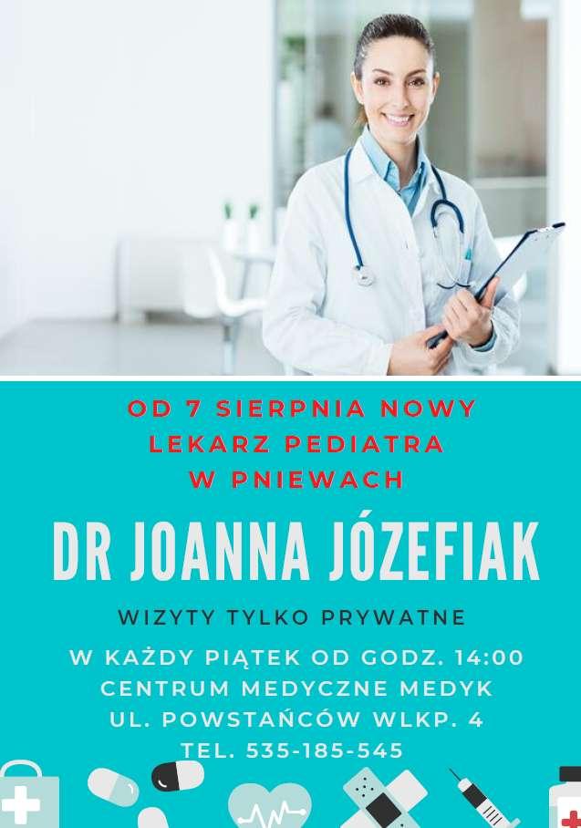 Od7 sierpnia pediatra wCM Medyk naul.Powstańców Wlkp.