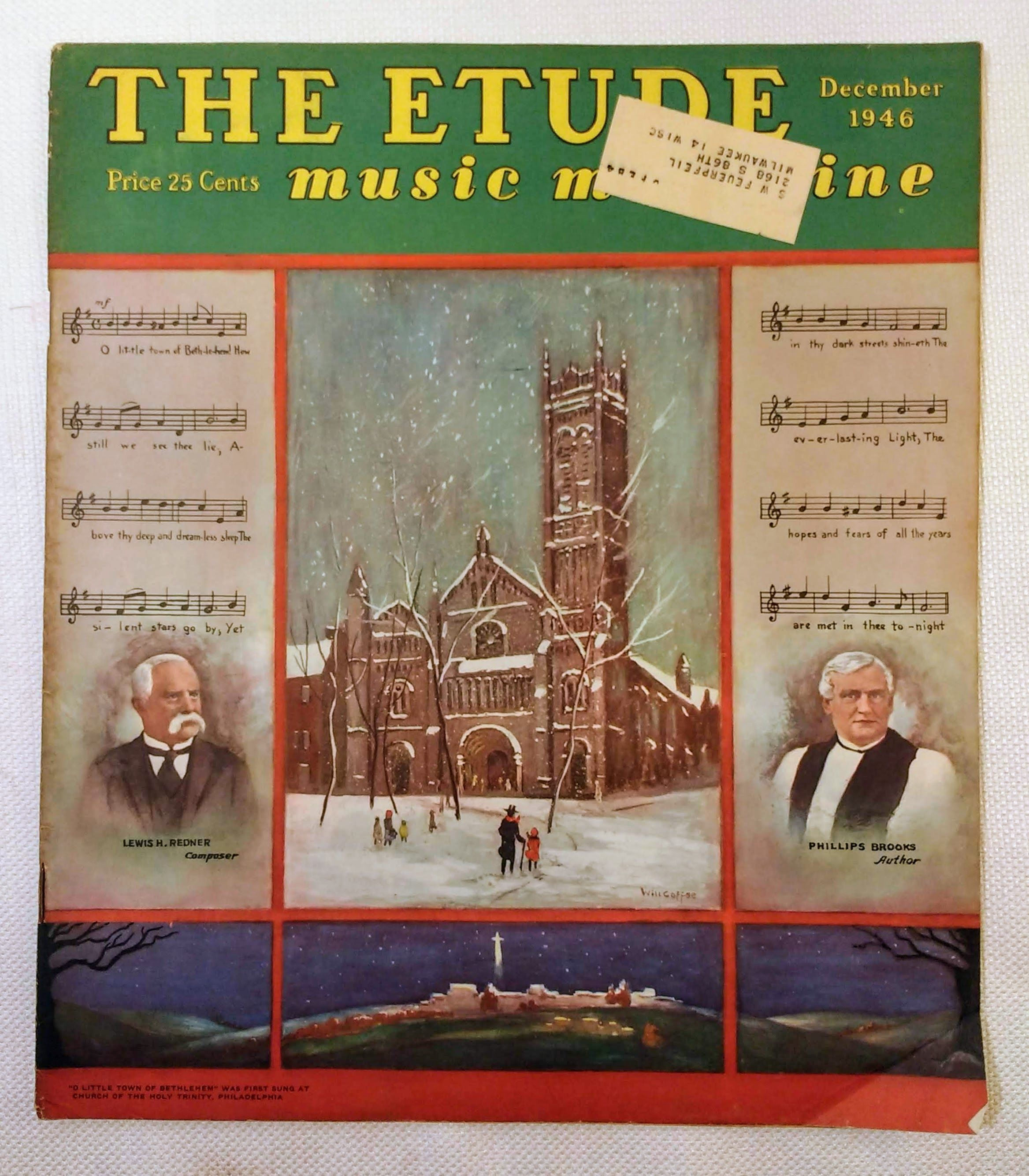 Image for The Etude Music Magazine: Volume LXIV, No. 12; December, 1946