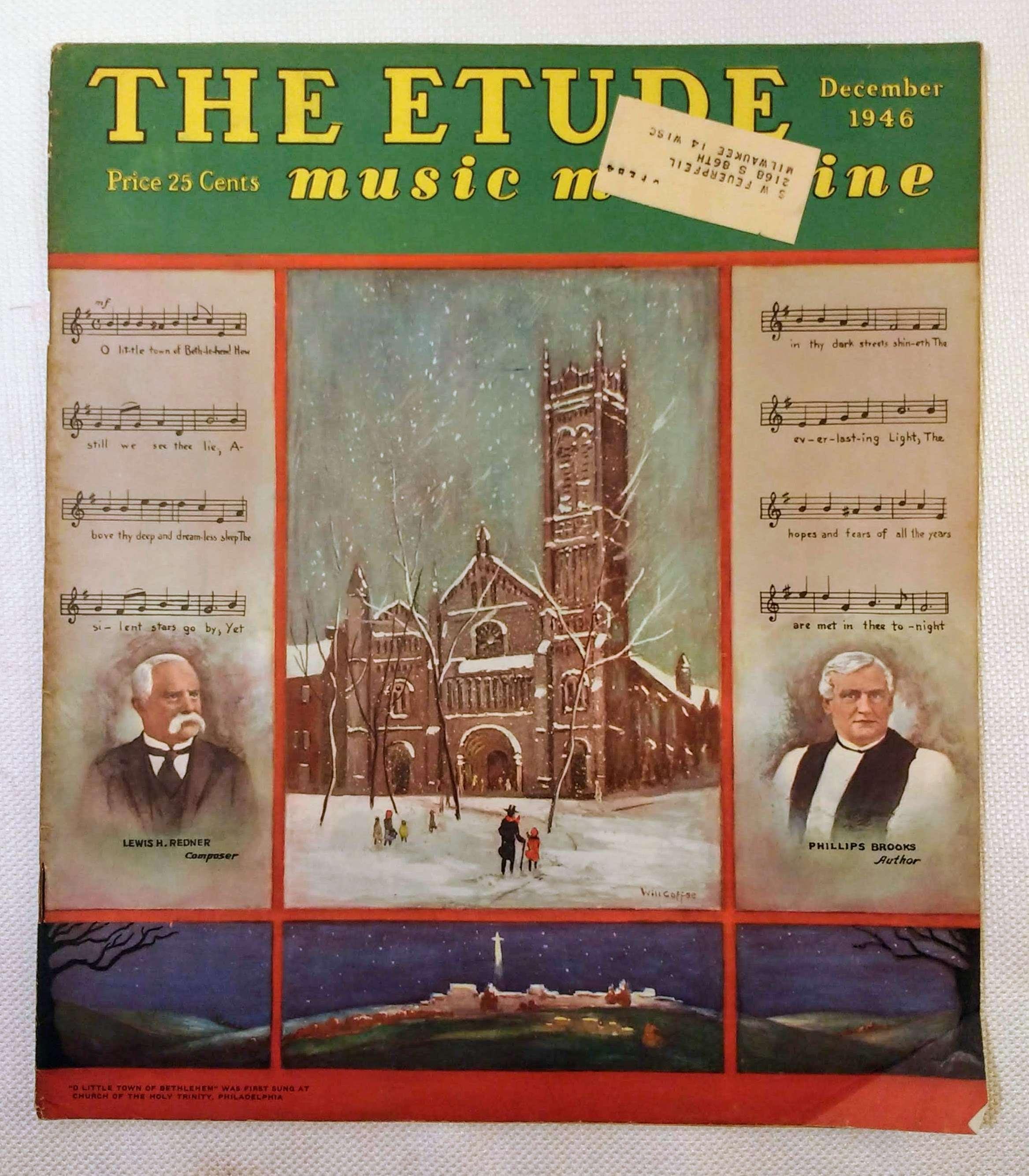 The Etude Music Magazine: Volume LXIV, No. 12; December, 1946, Cooke, James Francis [ed.]